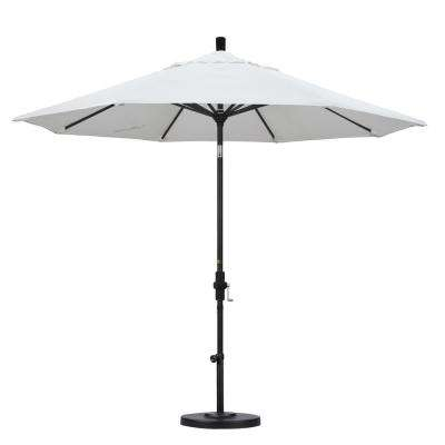 9 ft. Aluminum Collar Tilt Patio Umbrella in White Olefin