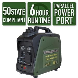 Sportsman 1,000 Watt Recoil Start Gasoline Powered Portable Inverter Generator With Parallel Connection