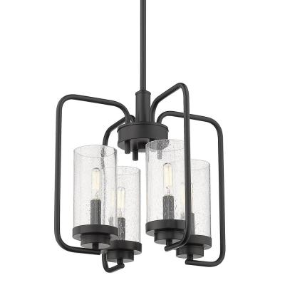 Holden 4-Light Black Chandelier