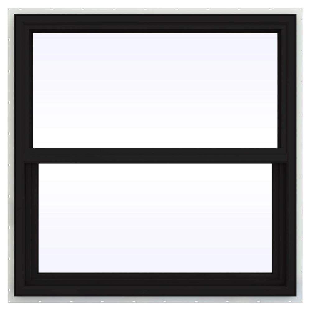 JELD-WEN 35.5 in. x 35.5 in. V-4500 Series Single Hung Vinyl Window - Black