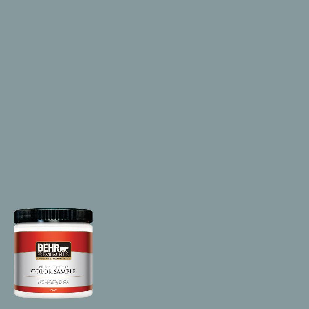 BEHR Premium Plus 8 oz. #ECC-65-3 Teal Wave Interior/Exterior Paint Sample