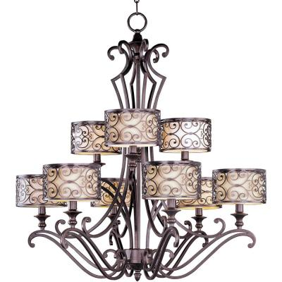 Mondrian 9-Light Umber Bronze Multi-Tier Chandelier