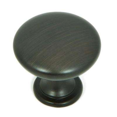 1.25 in. Oil Rubbed Bronze Round Cabinet Knob (Pack of 25)
