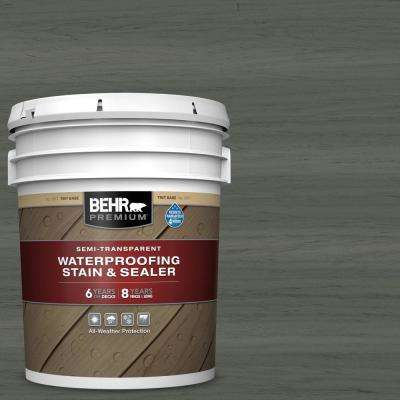 5 gal. #ST-131 Pewter Semi-Transparent Waterproofing Exterior Wood Stain and Sealer