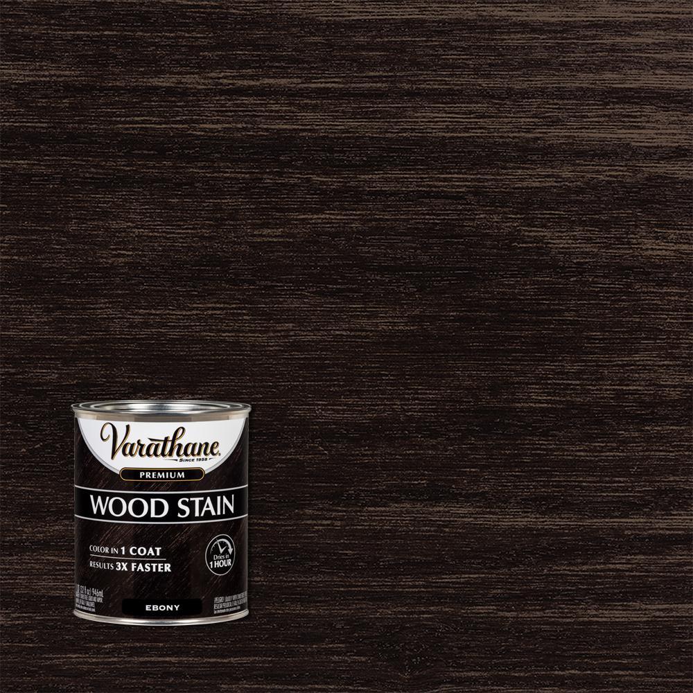 1 qt. Ebony Premium Fast Dry Interior Wood Stain