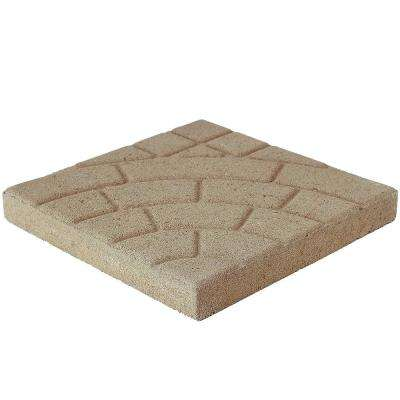 Bella Cobble 16 in. x 16 in. x 1.75 in. Buff Concrete Step Stone (84-Piece/149 sq. ft./Pallet)