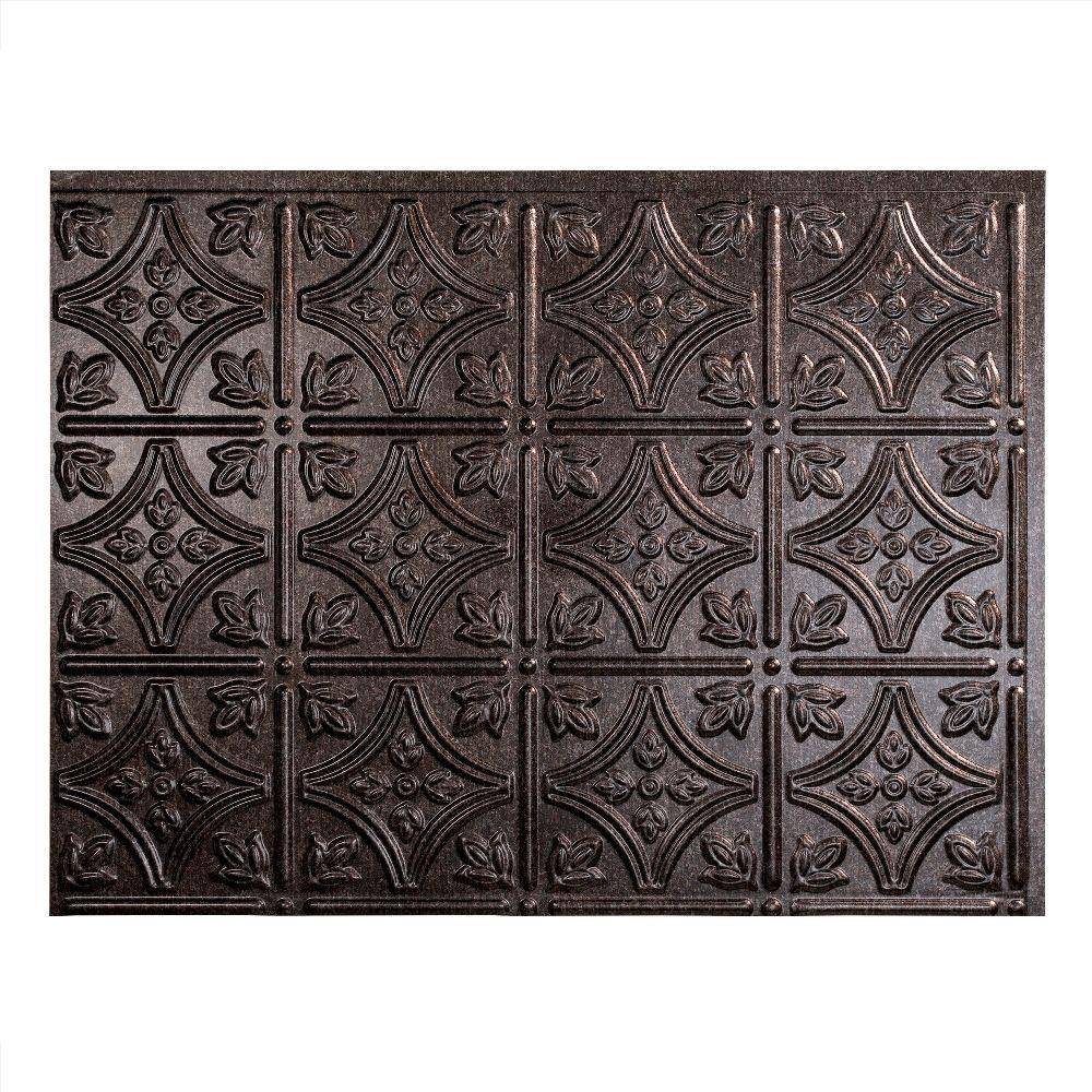 - Fasade Traditional 1 18 In. X 24 In. Antique Bronze Vinyl