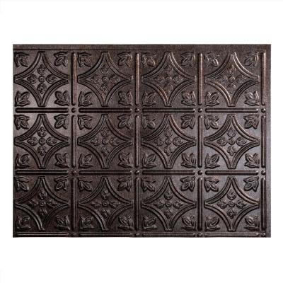 18 in. x 24 in. Traditional #1 Smoked Pewter Vinyl Backsplash Panel (Pack of 5)