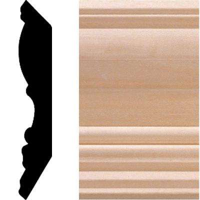 3/4 in. x 4-1/2 in. Hardwood Crown Moulding