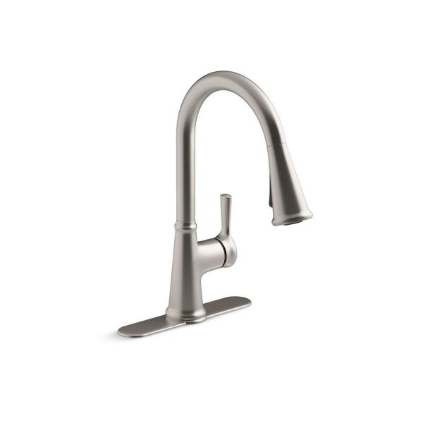 Tyne Single-Handle Pull-Down Sprayer Kitchen Faucet in Vibrant Stainless
