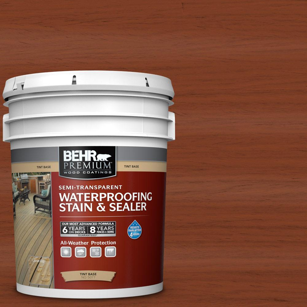 Behr premium 5 gal st 142 cappuccino semi transparent - Behr exterior wood stain reviews ...