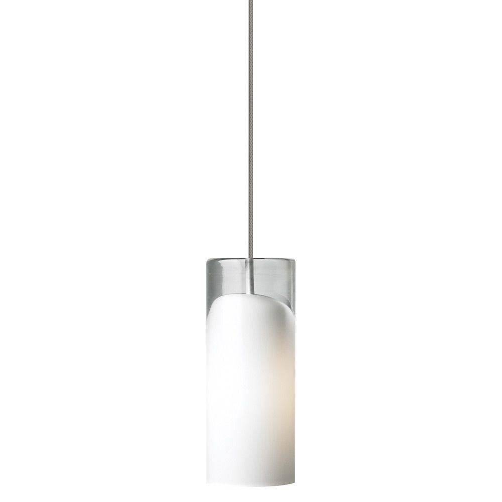 LBL Lighting Horizon 1-Light Bronze LED Mini Pendant with Opal Shade