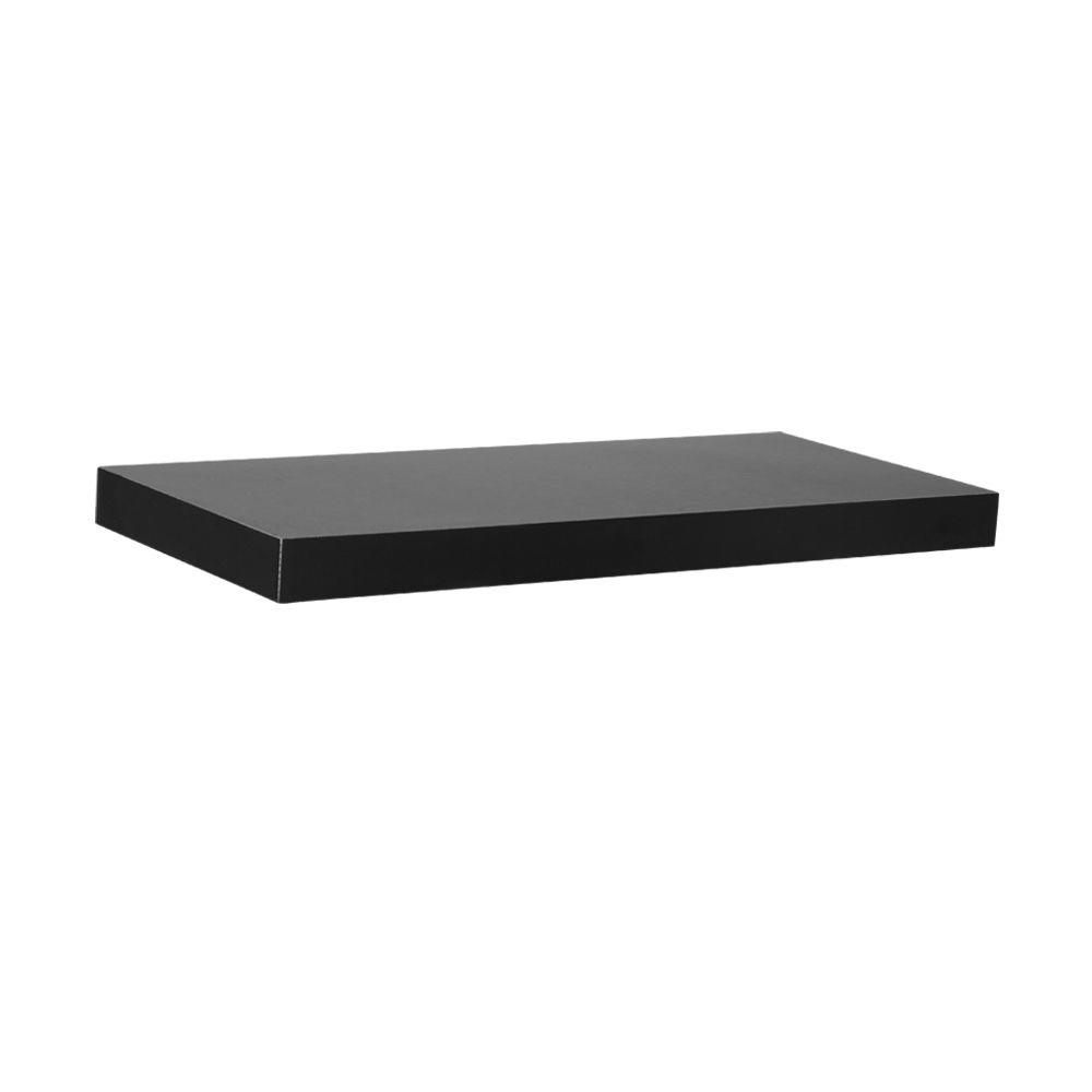 17.7 in. L x 7.75 in. W Slim Floating Black Shelf