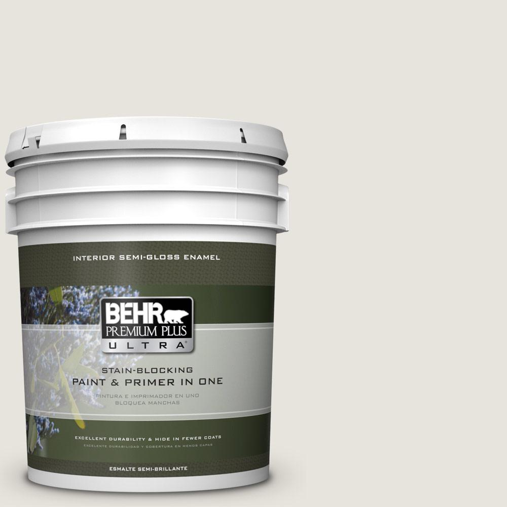 5 gal. #PPU24-13 White Pepper Semi-Gloss Enamel Interior Paint