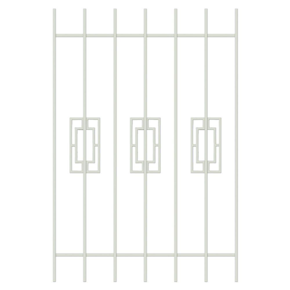 Unique Home Designs Modern Trifecta 36 in. x 54 in. Almond 7-Bar Window Guard-DISCONTINUED
