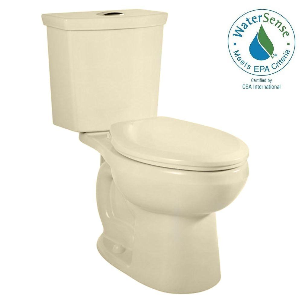 American Standard H2Option 2-piece Dual Flush Right-Height Elongated Toilet in Bone