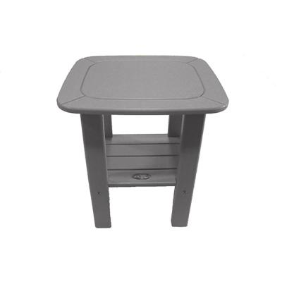 Gray Recycled Poly-Lumber Outdoor Side Table