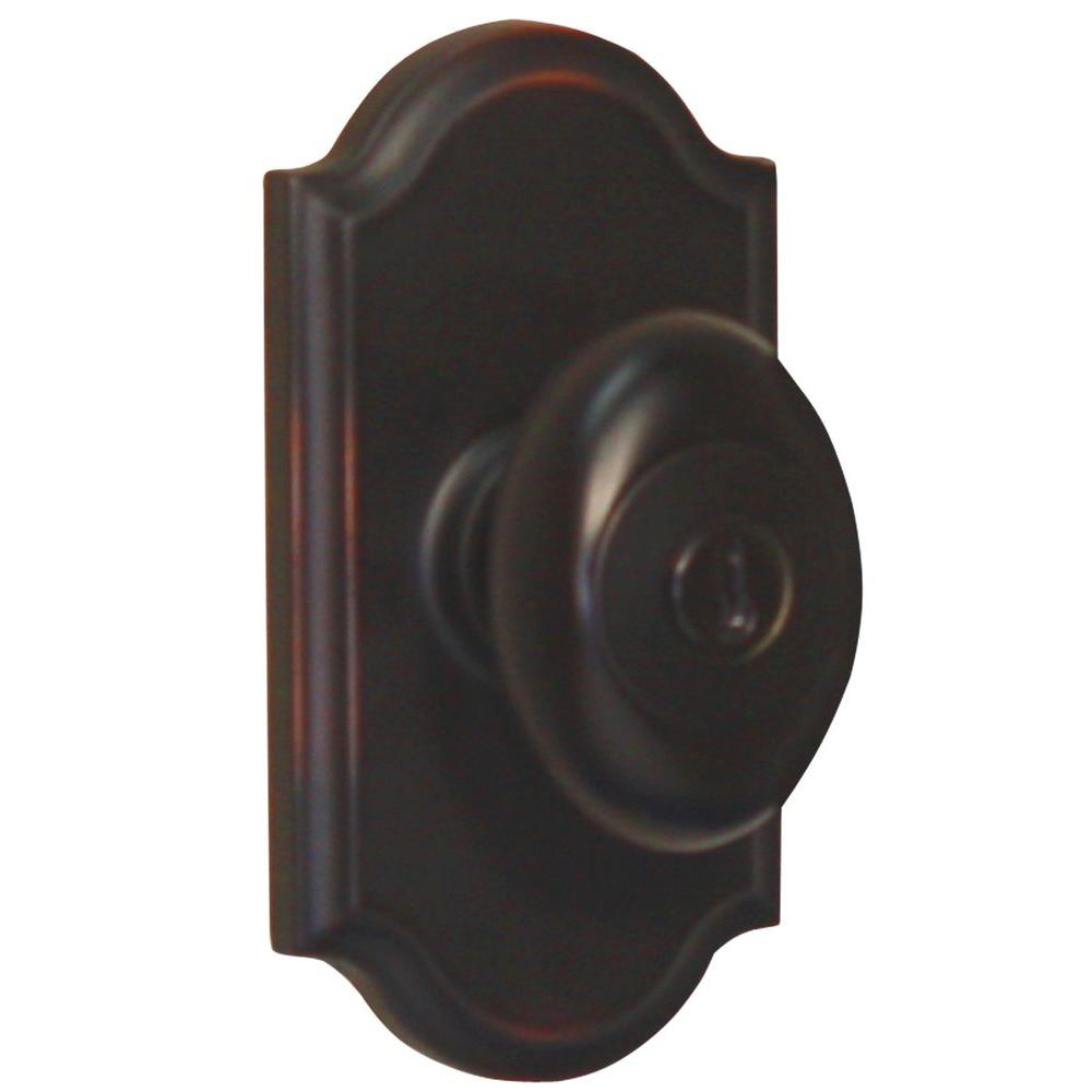 Elegance Oil-Rubbed Bronze Premiere Keyed Entry Julienne Knob