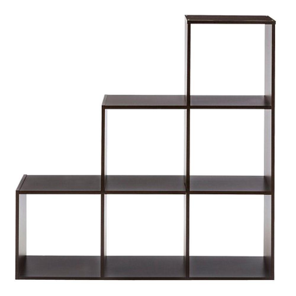 36 in. W x 36 in. H Espresso 3-2-1-Cube Organizer