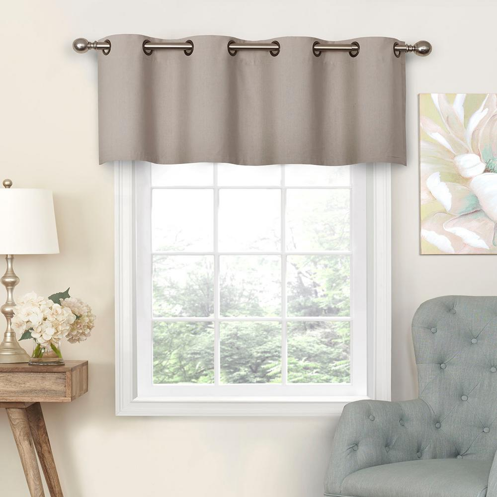Eclipse Nadya 18 in. L Poly/Cotton Valance Linen