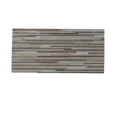 Great Alexander 6 in. x 24 in. x 8 mm Marble Mosaic Floor and Wall Tile Sample