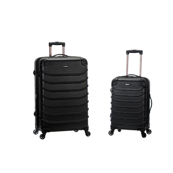 4b4ddba9b Rockland Rockland Expandable Speciale 2-Piece Hardside Spinner Luggage Set,  Black