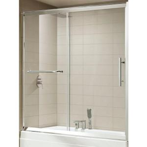 Framed Sliding Shower Doors wet republic oasis premium 60 in. x 58 in. semi-framed sliding