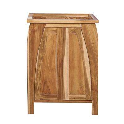 Tranquility 24 in. L Teak Vanity Cabinet Only in Natural Teak