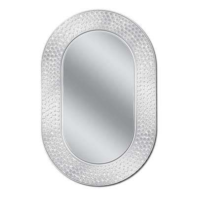 23 in. W x 35 in. H Tetra Etched Wall Mirror