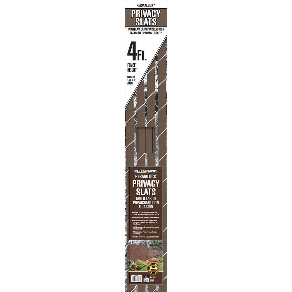 4 ft. H x 10 ft. W Brown Perma-Lock Double Wall