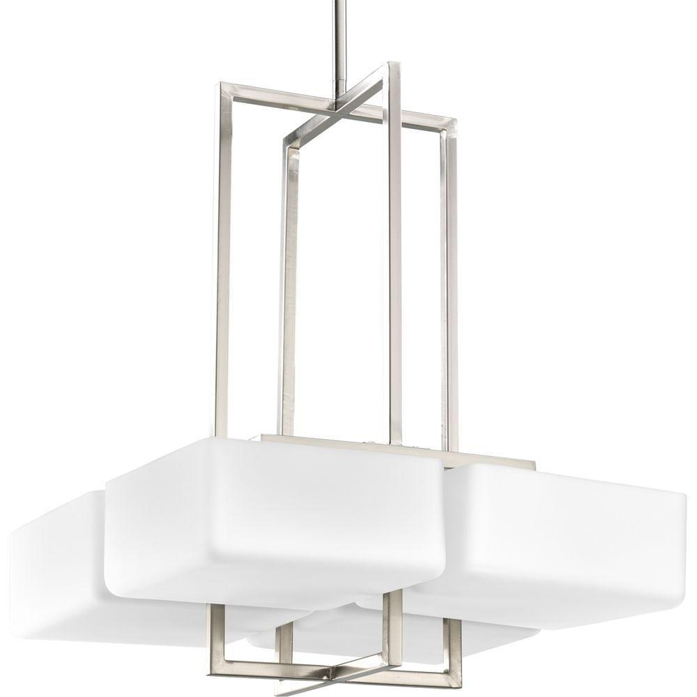 Progress Lighting Dibs Collection 4-Light Brushed Nickel Foyer Pendant