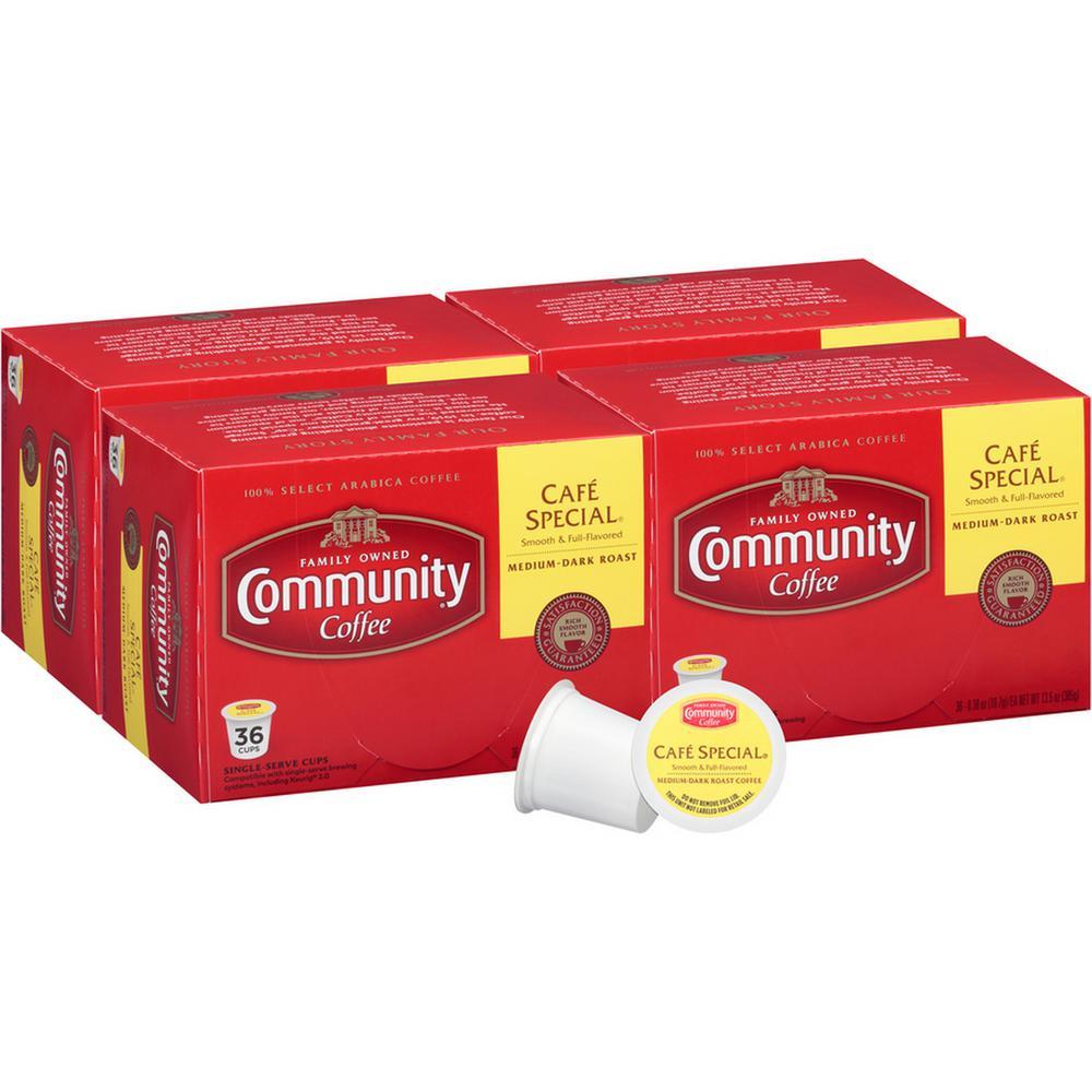 Community Coffee Cafe Special Medium-Dark Roast Single Serve Cups (144-Pack)