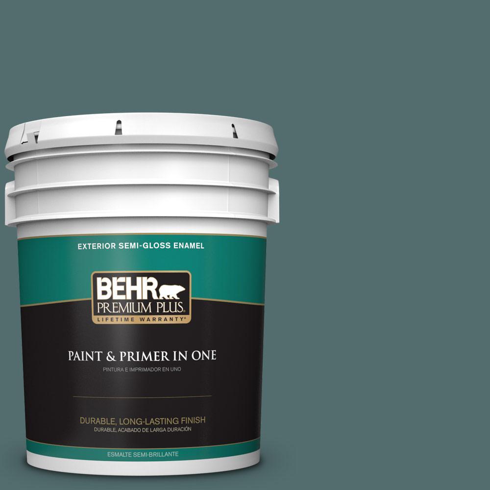 5 gal. #PPU12-02 Sequoia Lake Semi-Gloss Enamel Exterior Paint