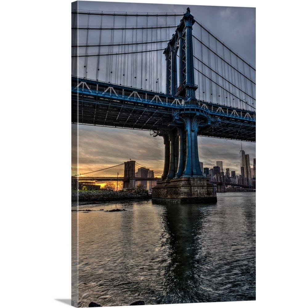 "Kitchen Art America Brooklyn Ny: GreatBigCanvas ""Manhattan And Brooklyn Bridges At Sunset"