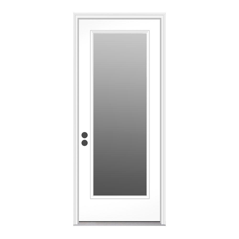 Jeld wen 32 in x 80 in full lite primed steel prehung - Installing prehung exterior door on concrete ...