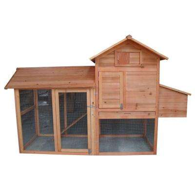 Chicken Coop Box with Slide-Out Pan