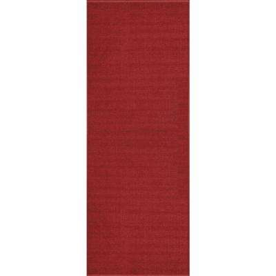 Hamam Collection Solid Red 26 in. W x Your Choice Length Roll Runner