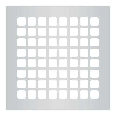 Square Series 8 in. x 8 in. Steel Grille, Gray without Mounting Holes