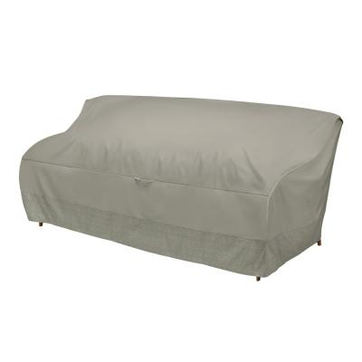 77 in. Outdoor Sofa Cover with Integrated Duck Dome in Moon Rock