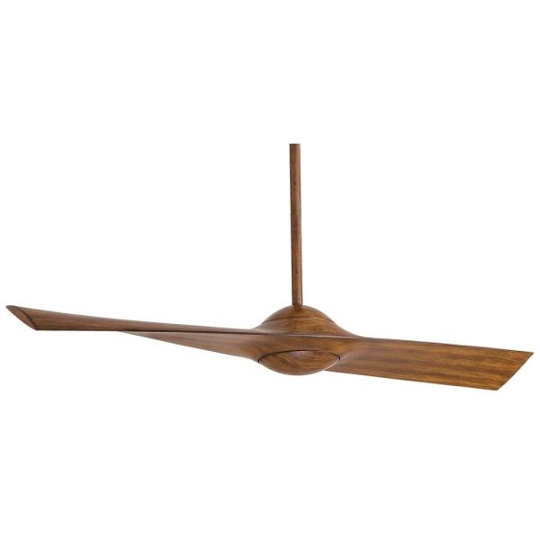 Wing 52 in. Indoor Distressed Koa Ceiling Fan with Remote Control
