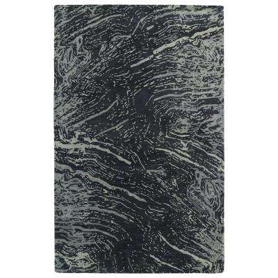 Brushstrokes Charcoal 4 ft. x 6 ft. Area Rug
