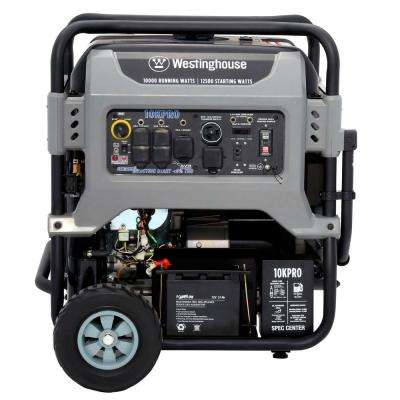 10KPRO Fully Featured 10,000 Watt Gasoline Powered Portable Generator Electric and Remote Start