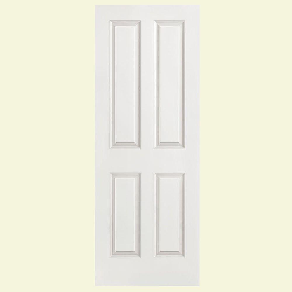 Masonite 4-Panel Smooth Hollow-Core Primed Composite Interior Door Slab