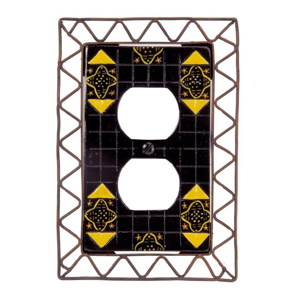 Seville 1 Duplex Wall Plate