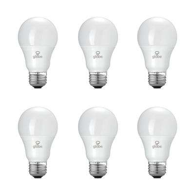 60W Equivalent Daylight (5000K) A19 LED Light Bulb (6-Pack)