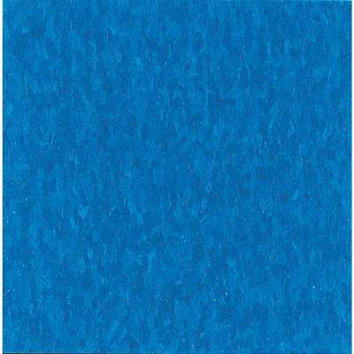 Imperial Texture VCT 12 in. x 12 in. Caribbean Blue Standard Excelon Commercial Vinyl Tile (45 sq. ft. / case)
