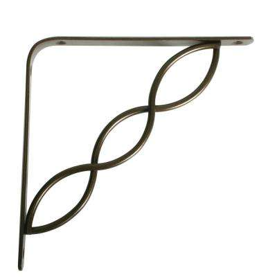 Concord 5.75 in. L x 0.75 in. W Antique Bronze 50 lb. Decorative Shelf Bracket