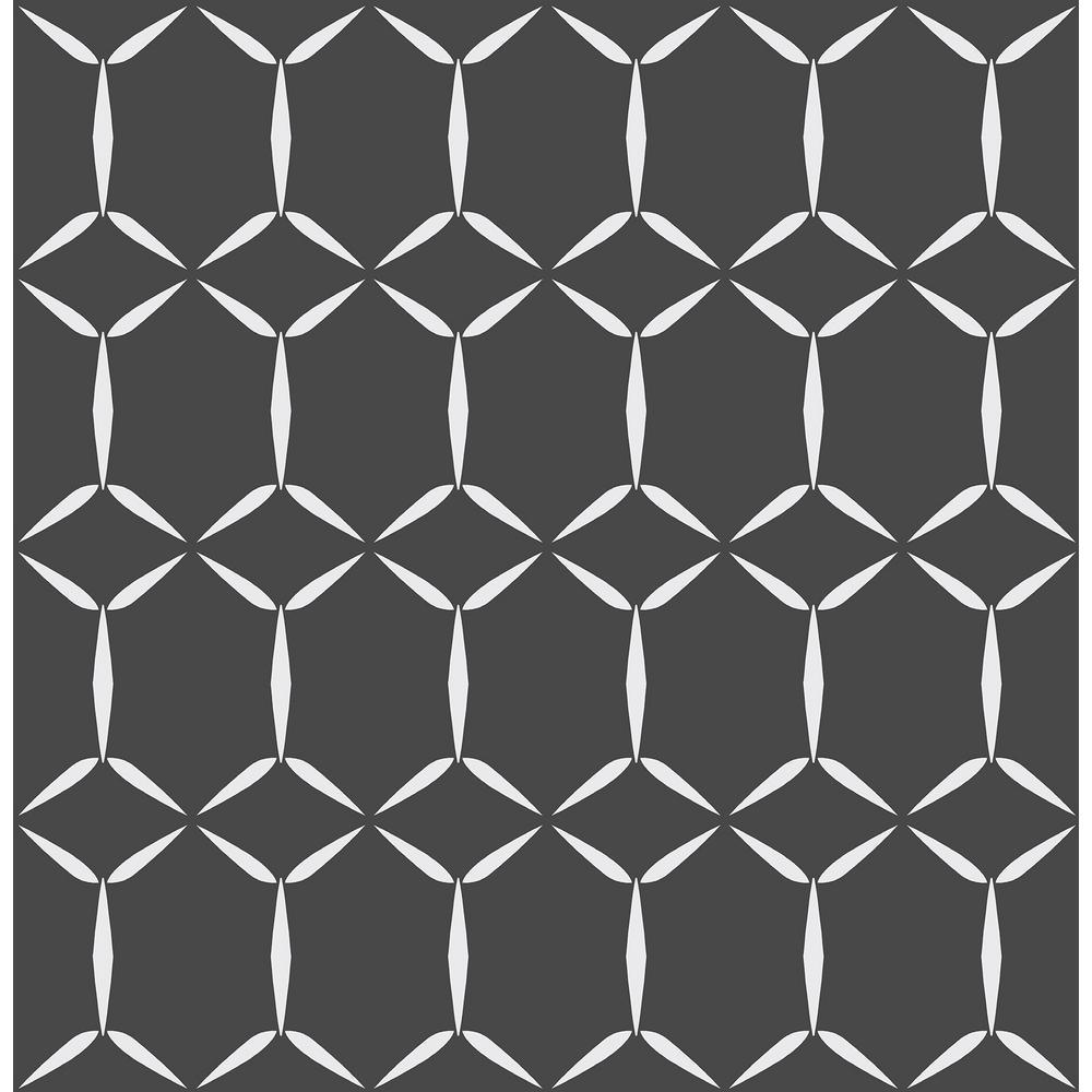 Fusion Black Geometric Wallpaper