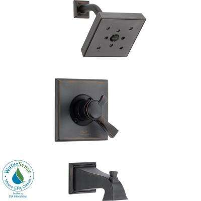 Dryden 1-Handle H2Okinetic Tub and Shower Faucet Trim Kit in Venetian Bronze (Valve Not Included)