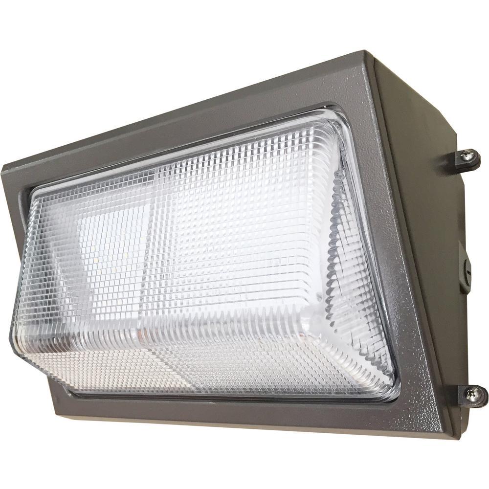 80-Watt Integrated LED Bronze Wall Pack Light 4100K